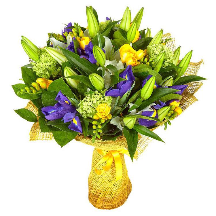фото ирисы и лилии первом